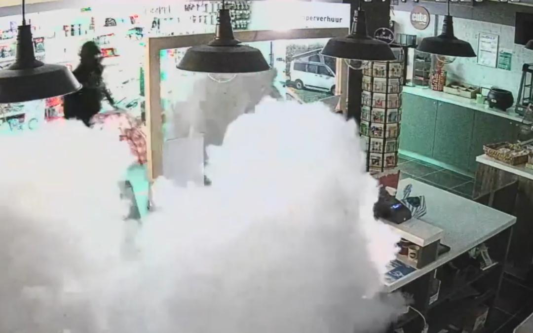 Mistmachine voorkomt diefstal tankstation